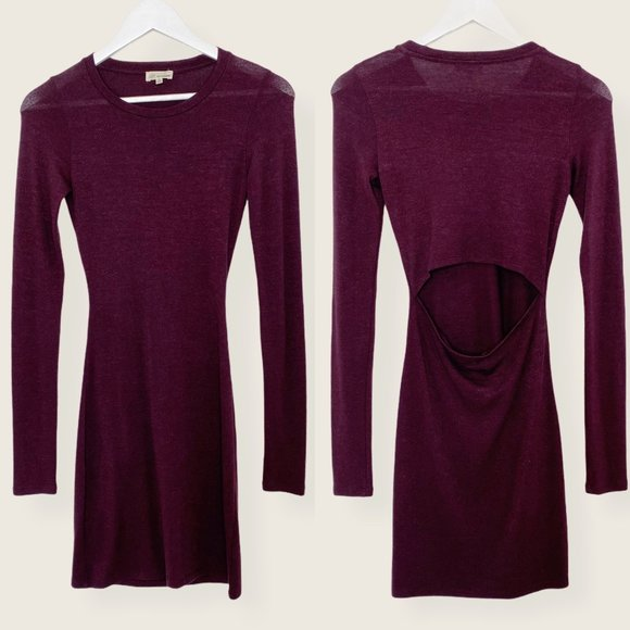 Aritzia Wilfred Free Cut Out Back Bodycon Dress